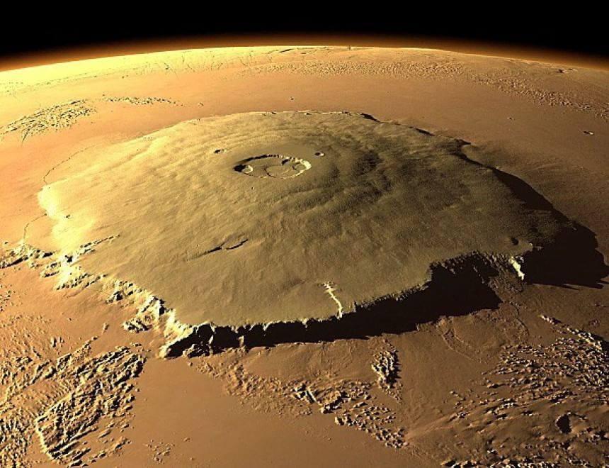 Monte Olimpo, Marte